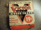 VINTAGE 1955 VICTOR PAIR MOUSE TRAP'S IN THE BOX  19 CENTS #Hunting #mousetrap VINTAGE 1955 VICTOR PAIR MOUSE TRAP'S IN THE BOX  19 CENTS #Hunting #mousetrap