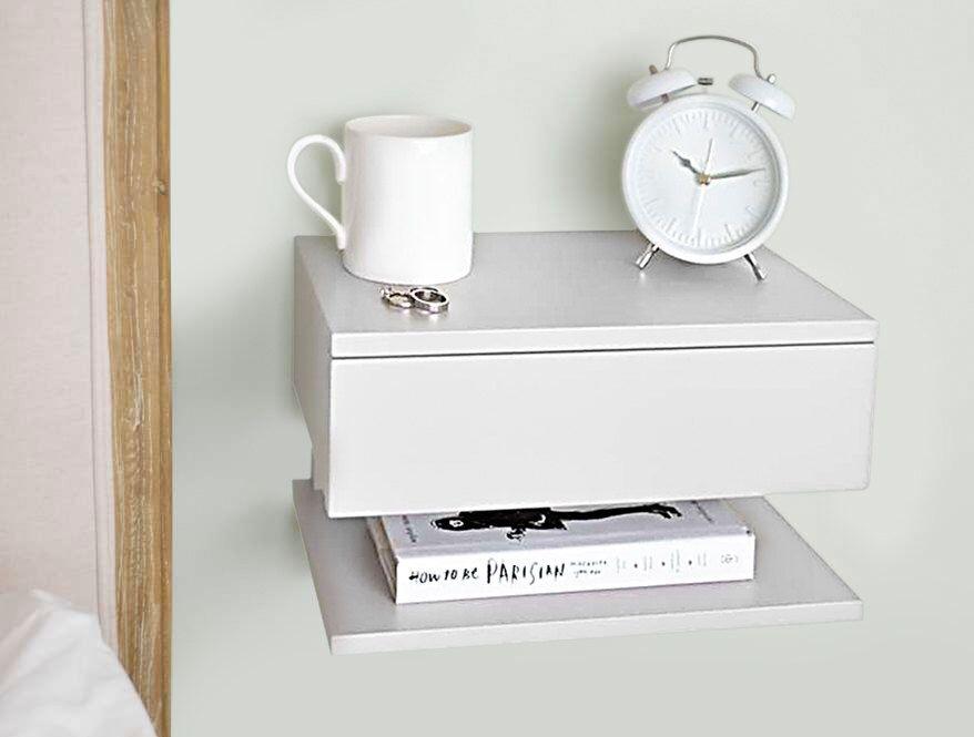 Floating Bedside Table With Images Floating Bedside Table