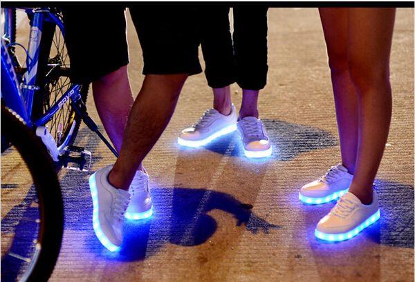 8 Colors 2015 LED luminous shoes for women and men led