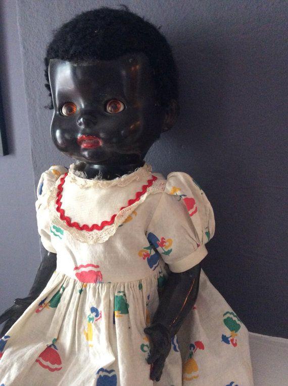 Antique Black Doll Vintage Dolls African Dolls Old Dolls