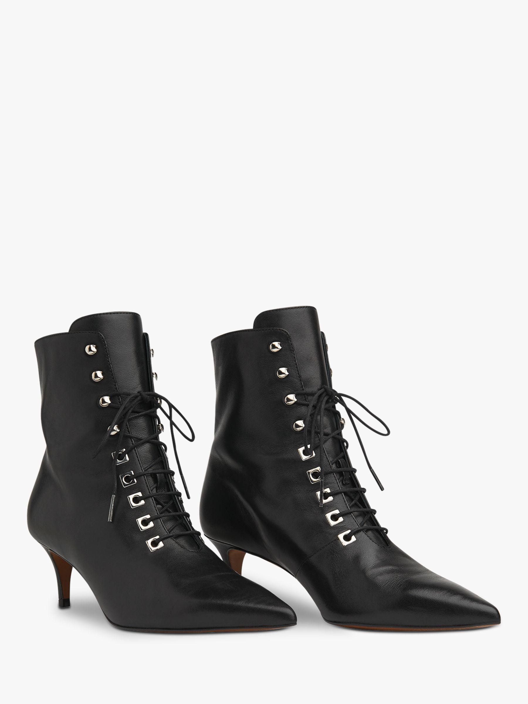 Whistles Celeste Kitten Heel Lace Up Ankle Boots Black Boots Lace Up Ankle Boots Black Ankle Boots