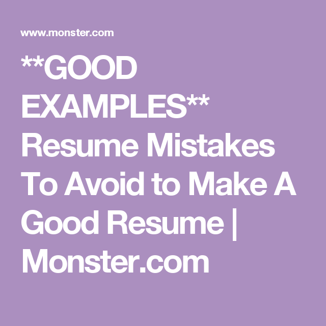Make Sure You Avoid These  Common Resume Errors  Career Advice