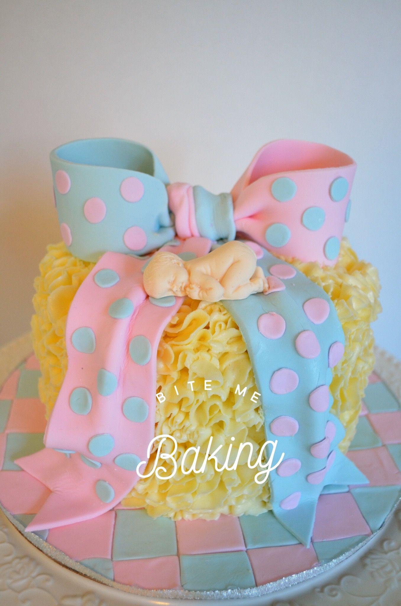 Gender Reveal Cake Baby Shower Cake