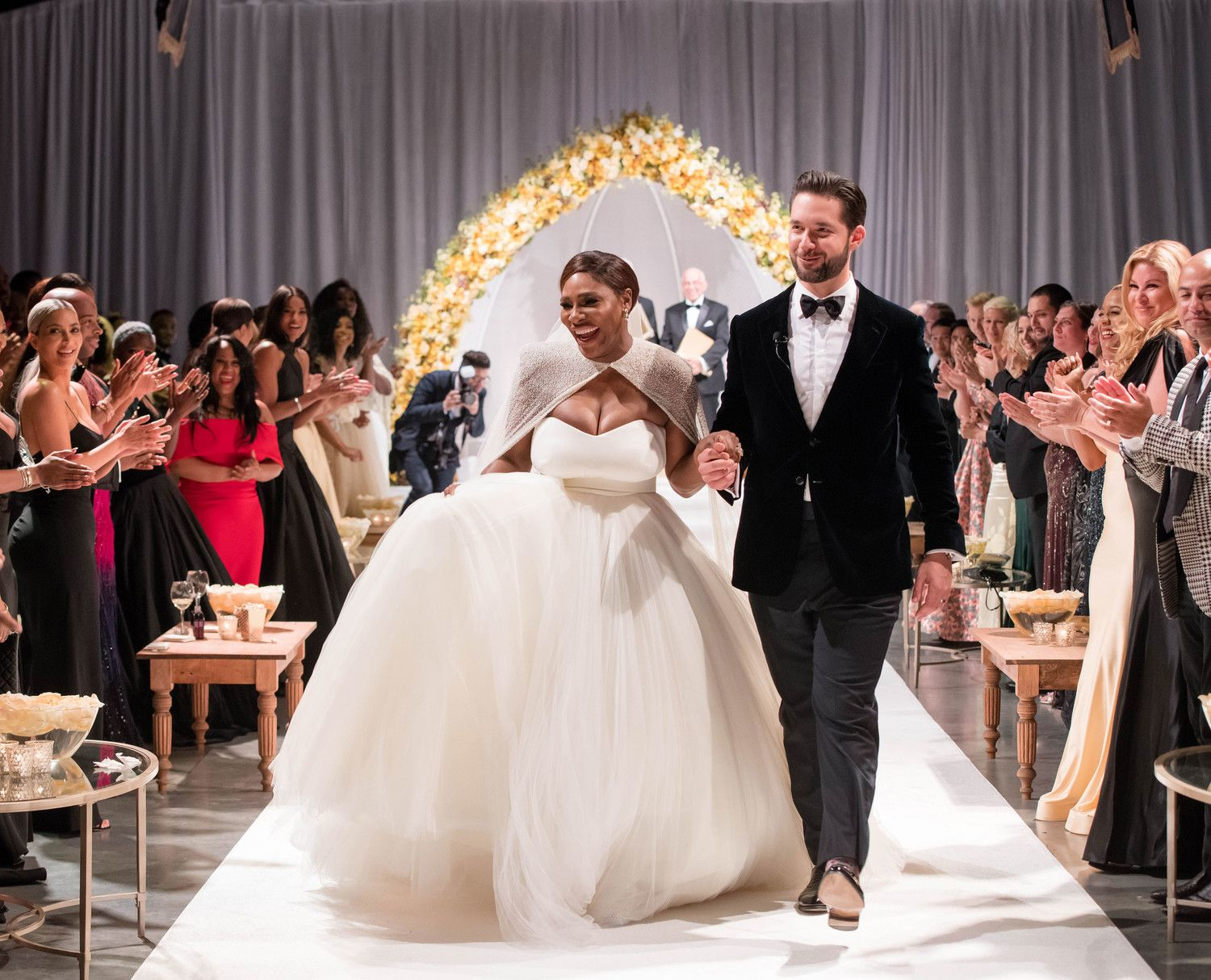 The Tennis Champion And Reddit Co Founder S Beauty And The Beast Themed Wedding Definitely In Serena Williams Wedding Celebrity Wedding Dresses Serena Williams