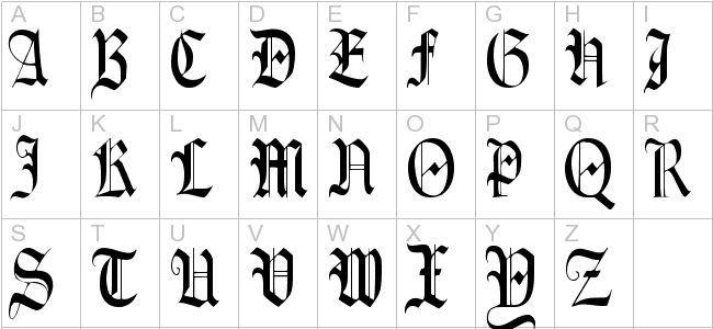 deutscher schwarzer Buchstabe (mit Bildern) Buchstaben