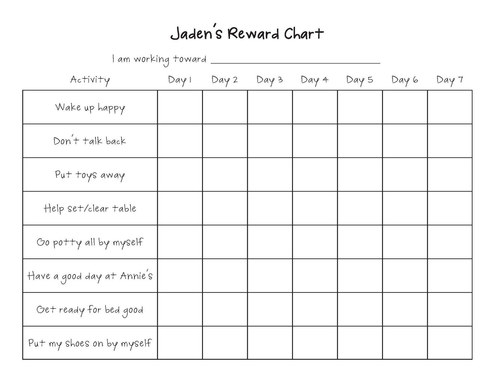 Image Result For Potty Training Charts And Rewards