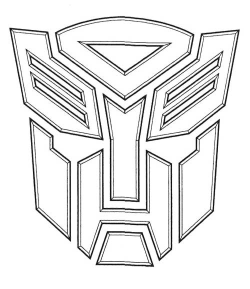 Autobot Transformers Coloring Page Transformers Birthday Cake