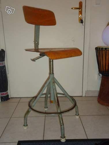chaise dessinateur industriel architecte vintage ameublement haute savoie. Black Bedroom Furniture Sets. Home Design Ideas