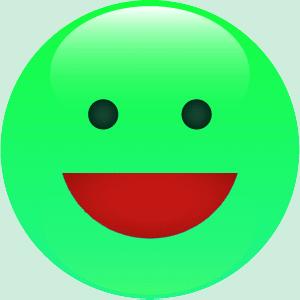 Dd smiley vert heureux motic ne clipart cartoon - Image smiley gratuit ...