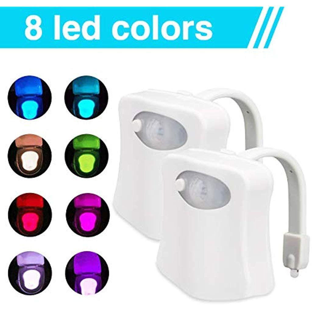 Led Toilettenlicht Wc Licht Led Lampe Wc Beleuchtung Mit Bewegungsmelder Badezimmer Motion Sensor Beleuchtung Toilettenlich In 2020 Led Lampe Beleuchtung Led