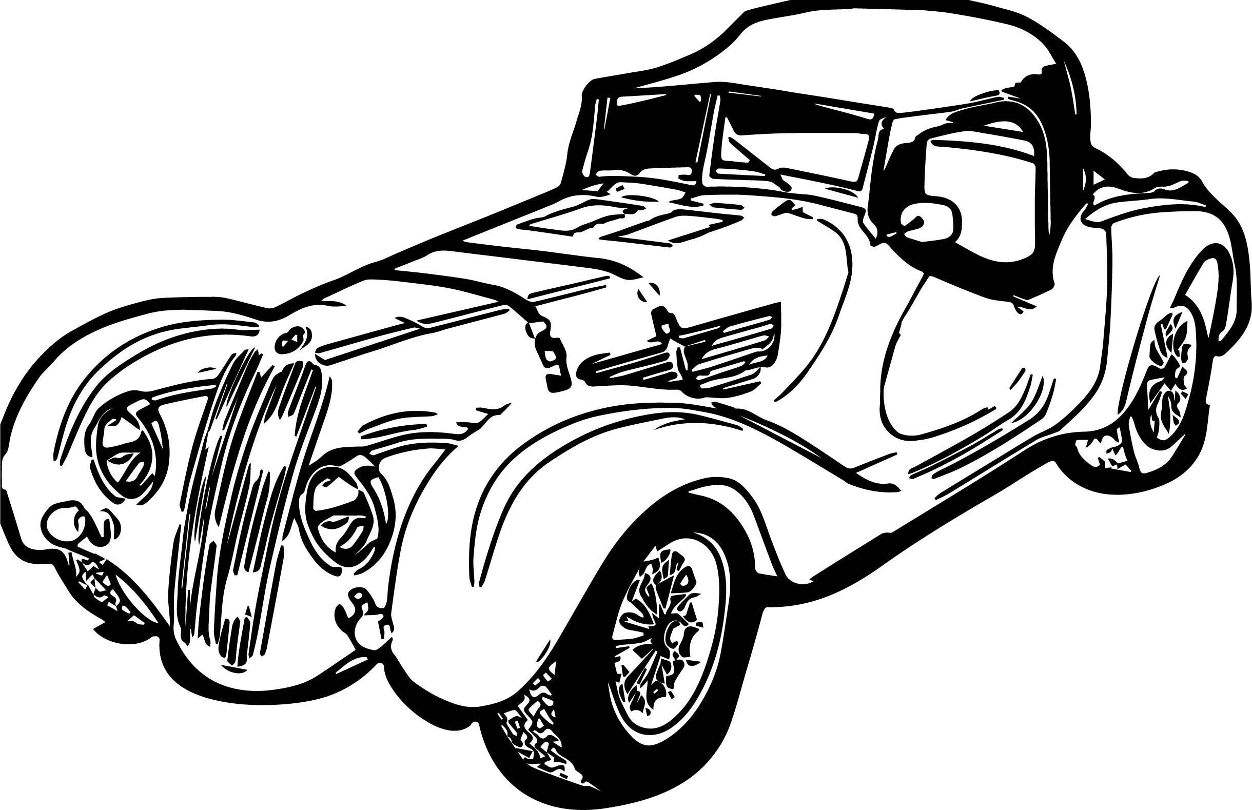 Cool vintage antique long car coloring page wecoloringpage