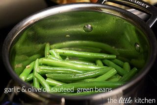 Garlic and Olive Oil Sauteed Green Beans — Recipe from The Little Kitchen