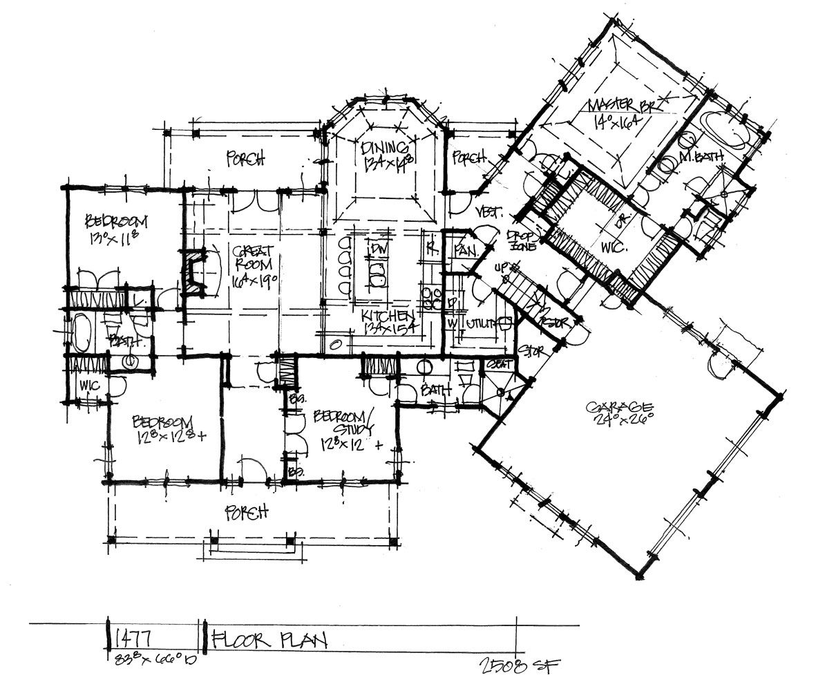 House plan on the drawing board 1477 is a one story design with an angled floor plan check out the first floor wedesigndreams dongardnerarchitects