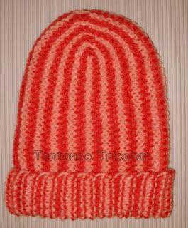 Tentando Tricotar  Gorro com listras verticais  97a83b59843