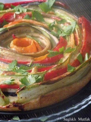 Sebzeli spiral tart tarifi