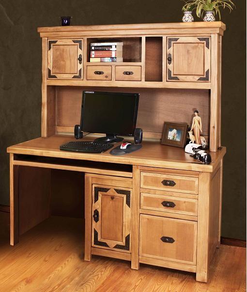 Rustic Lodge Home Office Small Desk