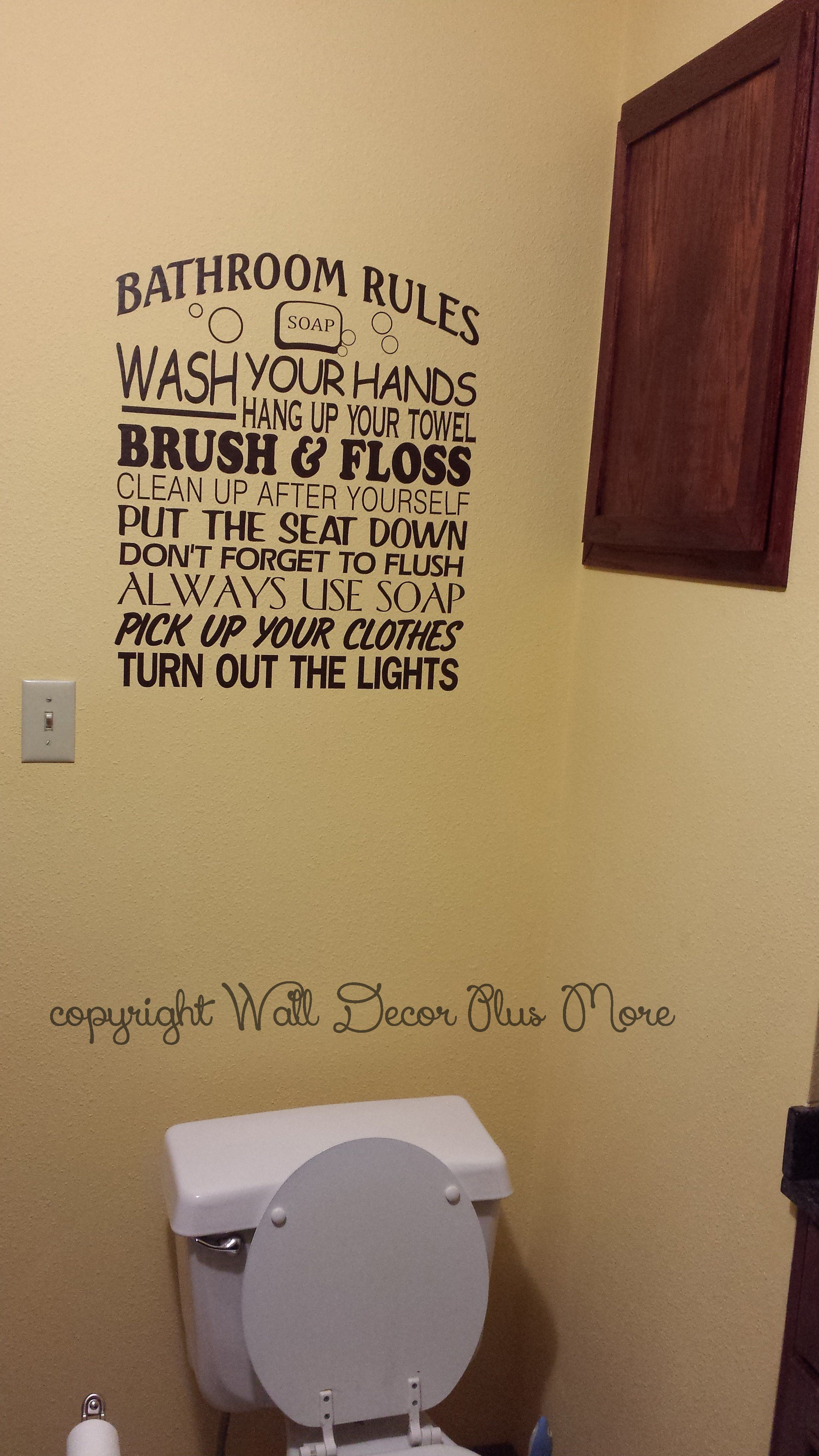 Robinet Salle De Bain Weldom ~ balcony rules subway art phrases and quote wall decal stickers for
