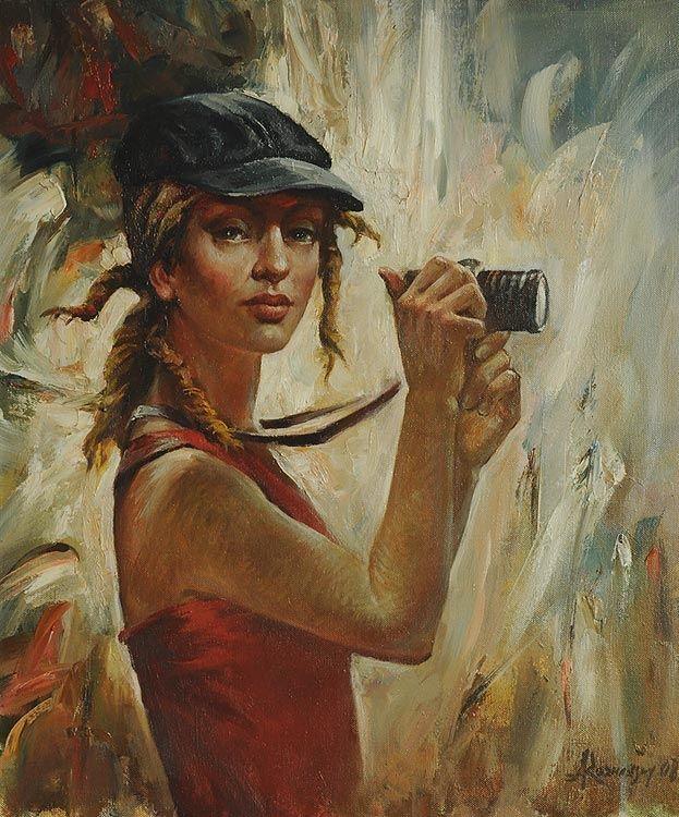Rozhansky Anatoliy.The romantic girl.60x50cm.Öl.Lw.2009.jpg