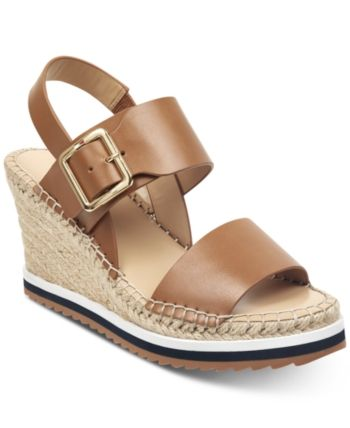 0f26f5d5b6a Tommy Hilfiger Yazzi Wedge Sandals - Brown 5.5M | Products in 2019 ...