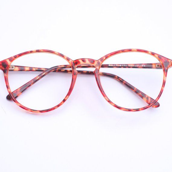 abfaeb7bab 90s Vintage Retro Glasses Frames   Oversized Retro Eye Glasses   Tortoise  Shell   Round Eyeglasses