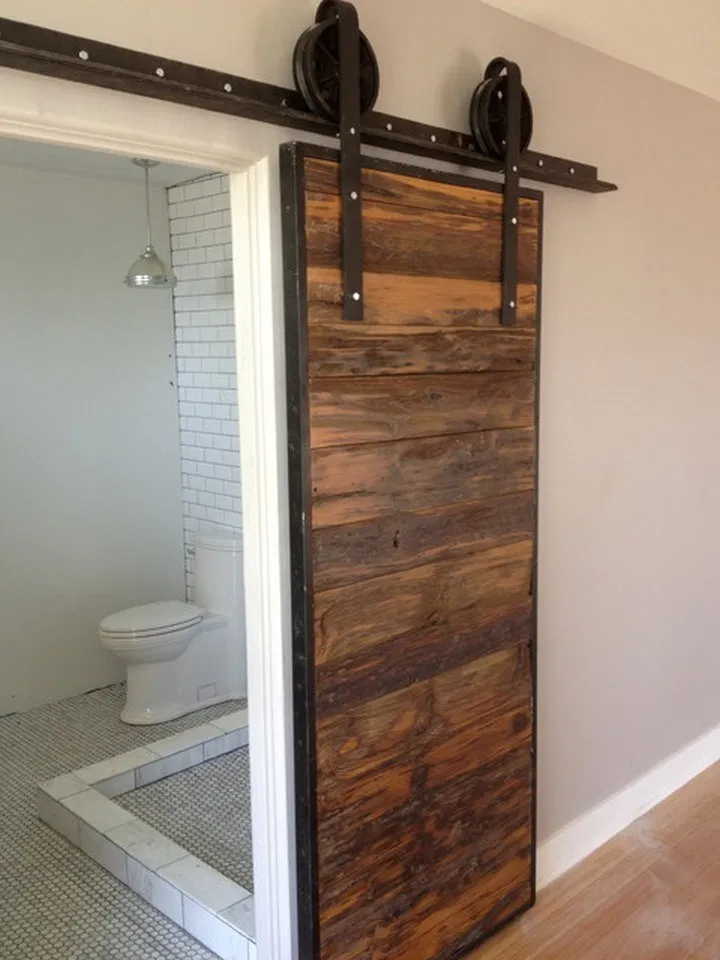 13 Best Modern Bathroom Door Designs That Can Be Your Reference In 2020 Small Space Bathroom Home Contemporary Bathroom