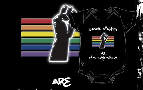 Equal Rights Are Non-Negotiable onesie by Samuel Sheats #activism