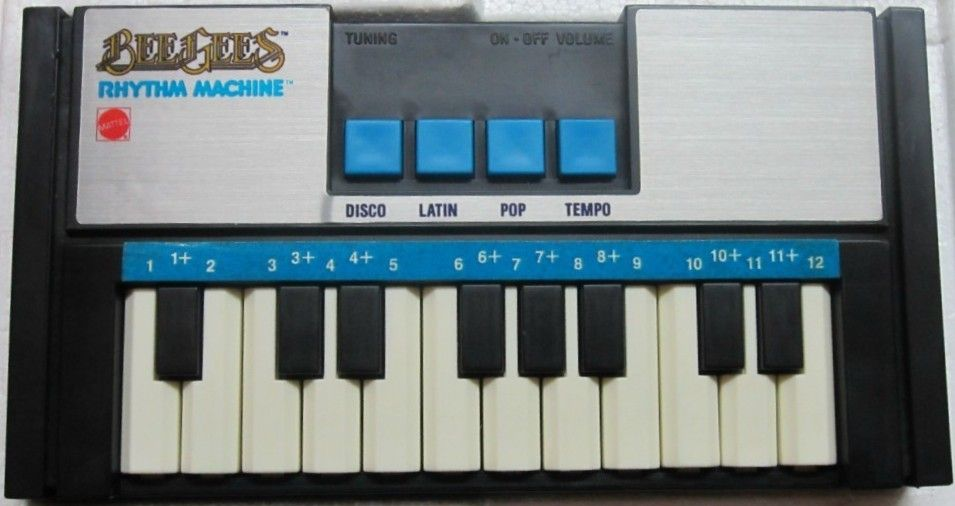 mattel 1978 bee gees rhythm machine keyboard vintage toys mattel 1970s 80s alive lyrics. Black Bedroom Furniture Sets. Home Design Ideas