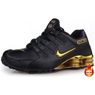 bca9b8867ffe http   www.asneakers4u.com Mens Nike Shox NZ 309 Black Gold