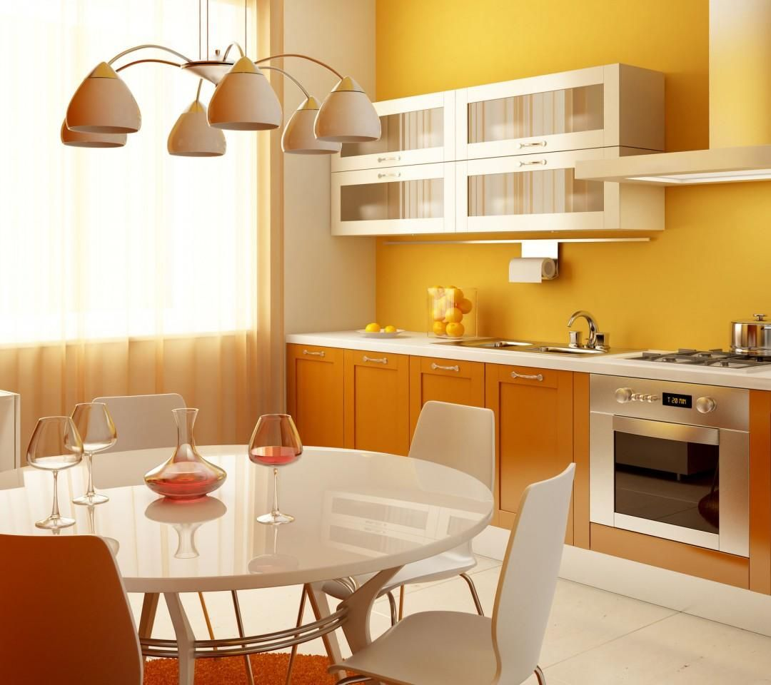 Mustard yellow walls make magnificent kitchens | Modern ...