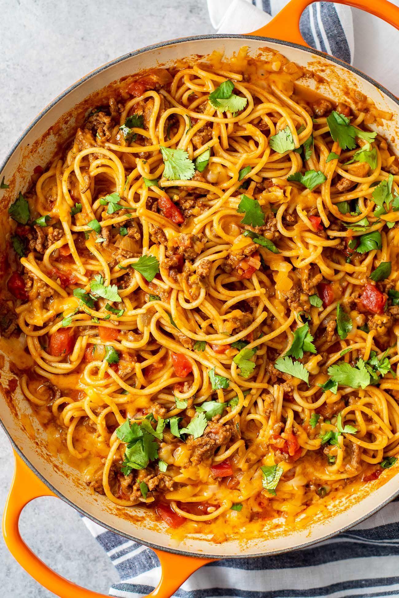 Mexican Spaghetti Casserole (Easy Taco Spaghetti!) - Casserole Crissy