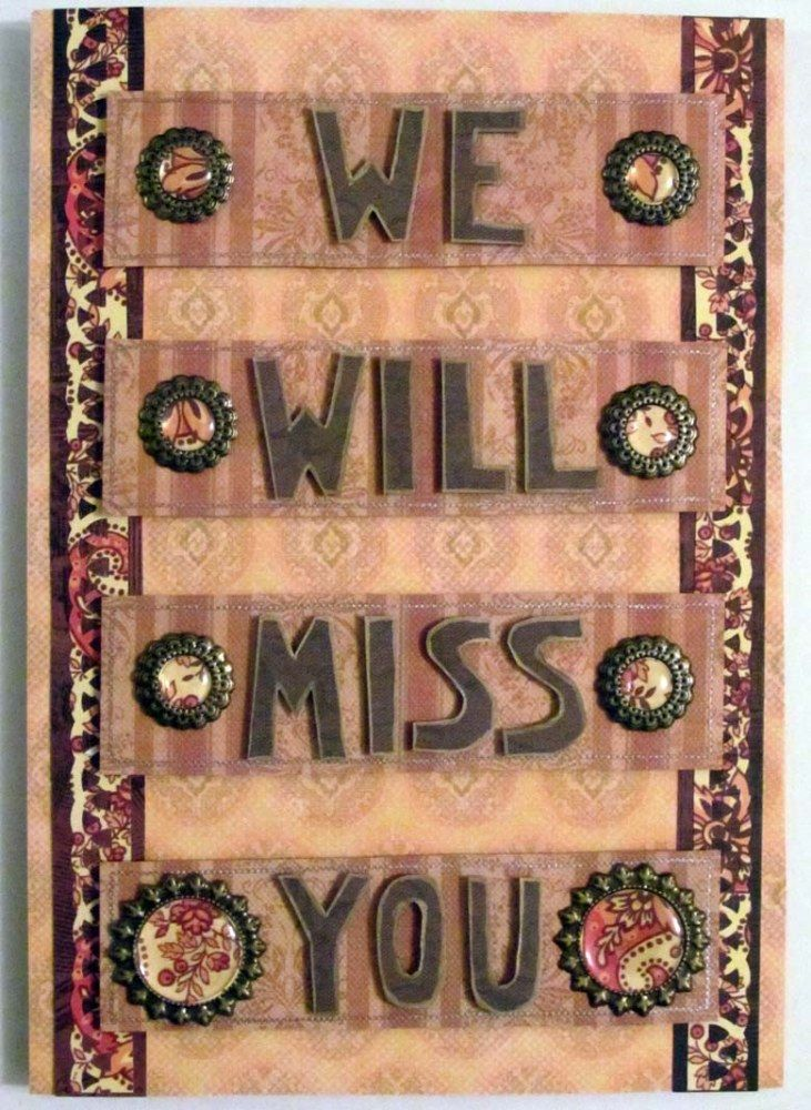Warm Goodbye Cards, Goodbye cards and Diy cards - free farewell card template