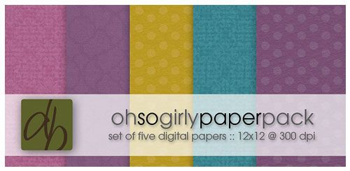 The Oh So Girly Digital Paper Pack for Photographers  :: The Design Boutique by Kristina Lynn :: Our digital paper packs are perfect for those who want to create their own layouts.