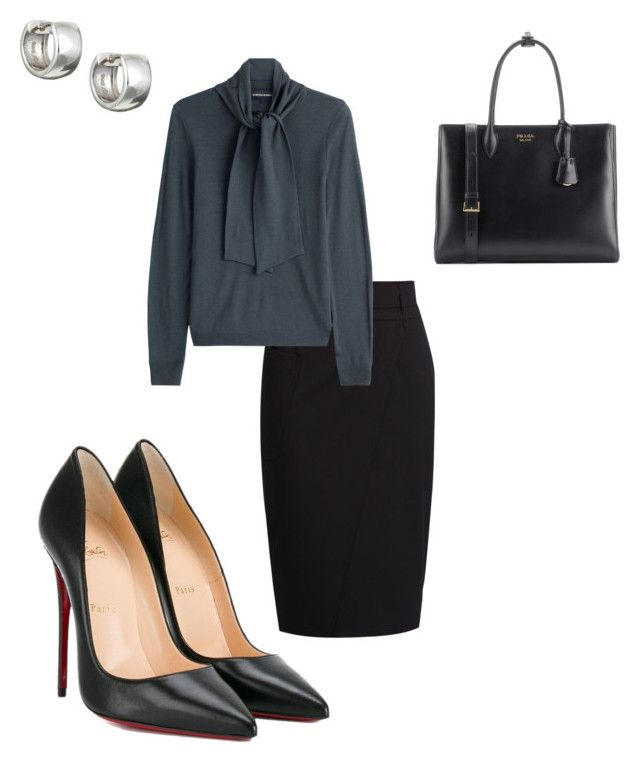 """Work"" by cgraham1 on Polyvore featuring Sterling Essentials, MaxMara, Vanessa Seward, Christian Louboutin and Prada"