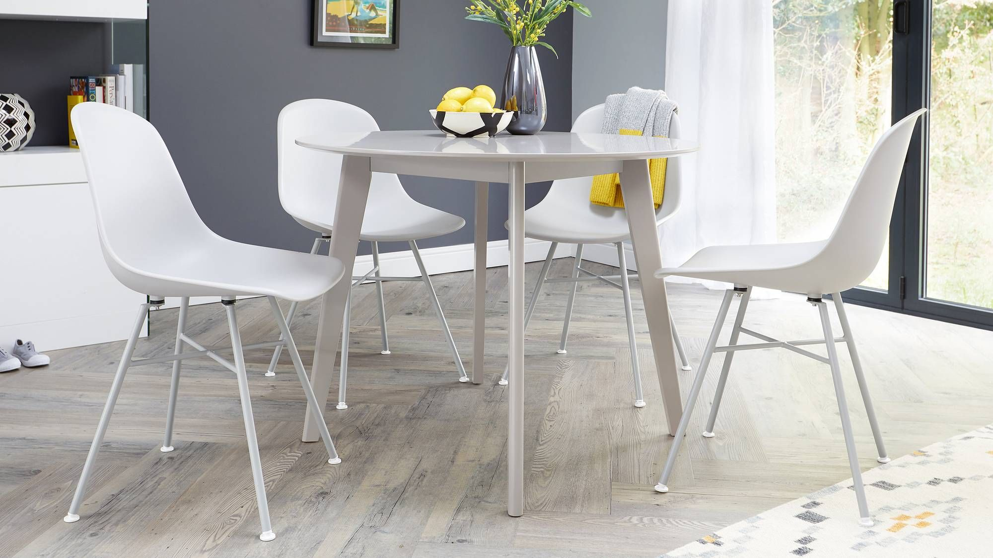 Terni Matt Grey And Fia 4 Seater Dining