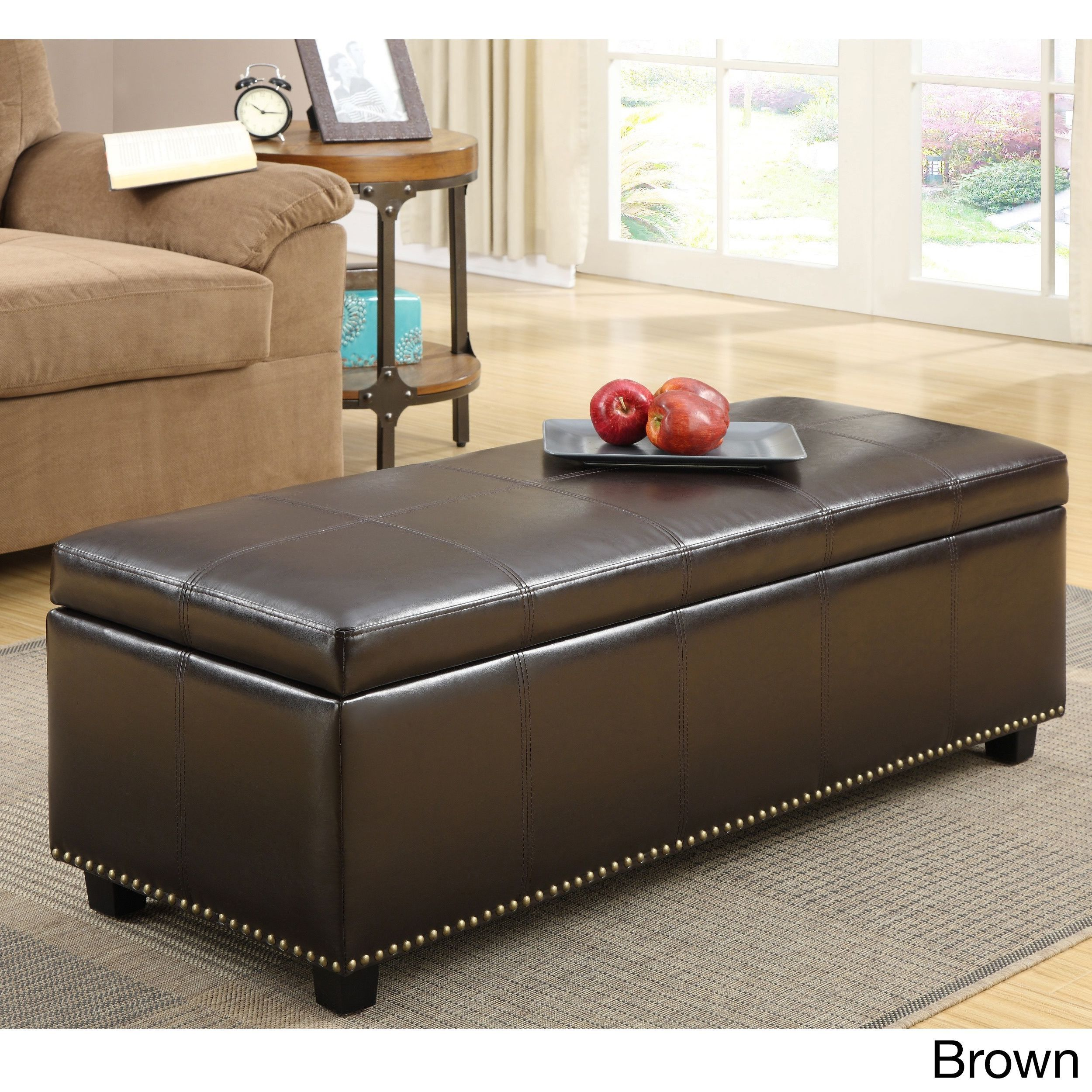 Online Ping Bedding Furniture Electronics Jewelry Clothing More Brown Ottomanleather