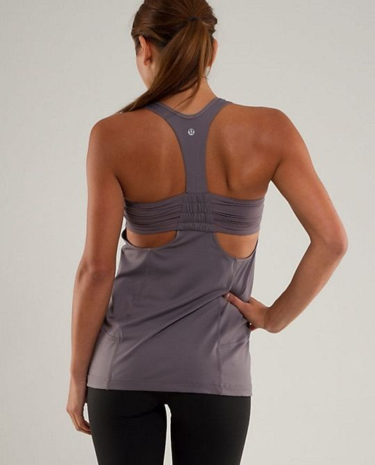 Turbo top grey workout clothing lululemon and grey for Shirts with built in sports bra