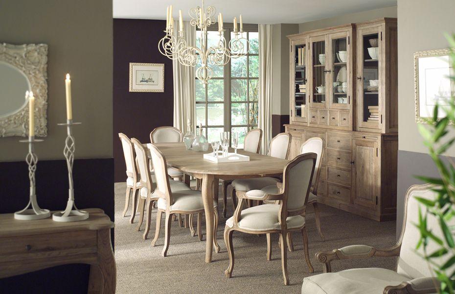 Eik eetkamer louise landelijke stijl eik landelijke interieurmeubelen pinterest eetkamer - Eetkamer interieur decoratie ...