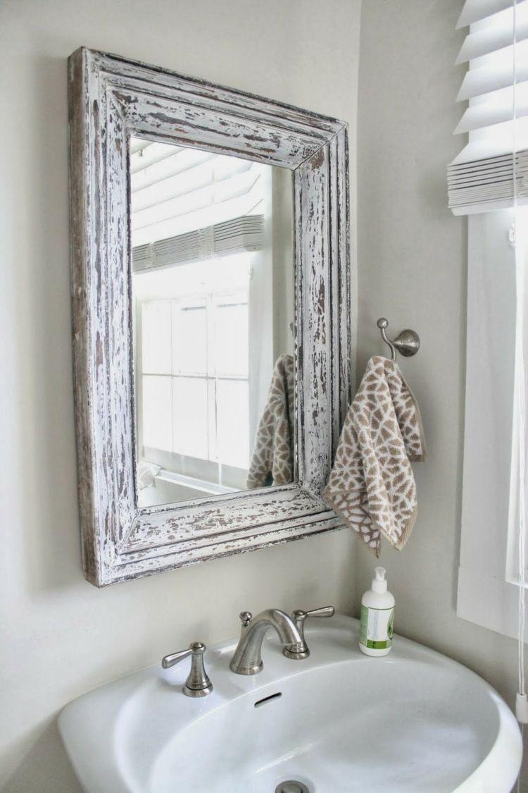 Romanticismo y dulzura en el baño - 50 diseños Shabby Chic - | Shabby