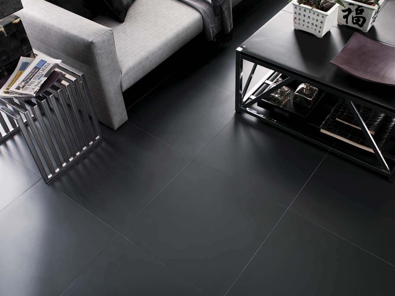 Indoor Tile Floor Porcelain Stoneware Matte Ston Ker Extrem Black