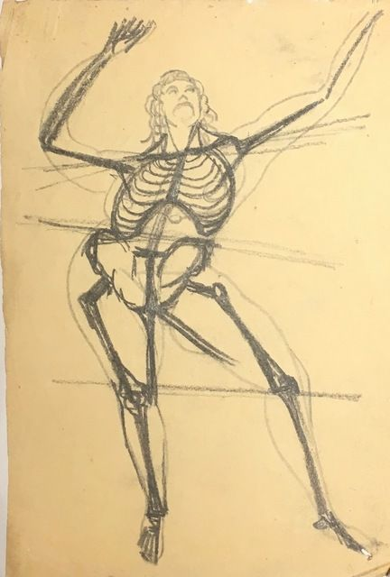Gaston Lachaise, 'Skeleton Dancing, From the Front,' Not dated., New York Studio School