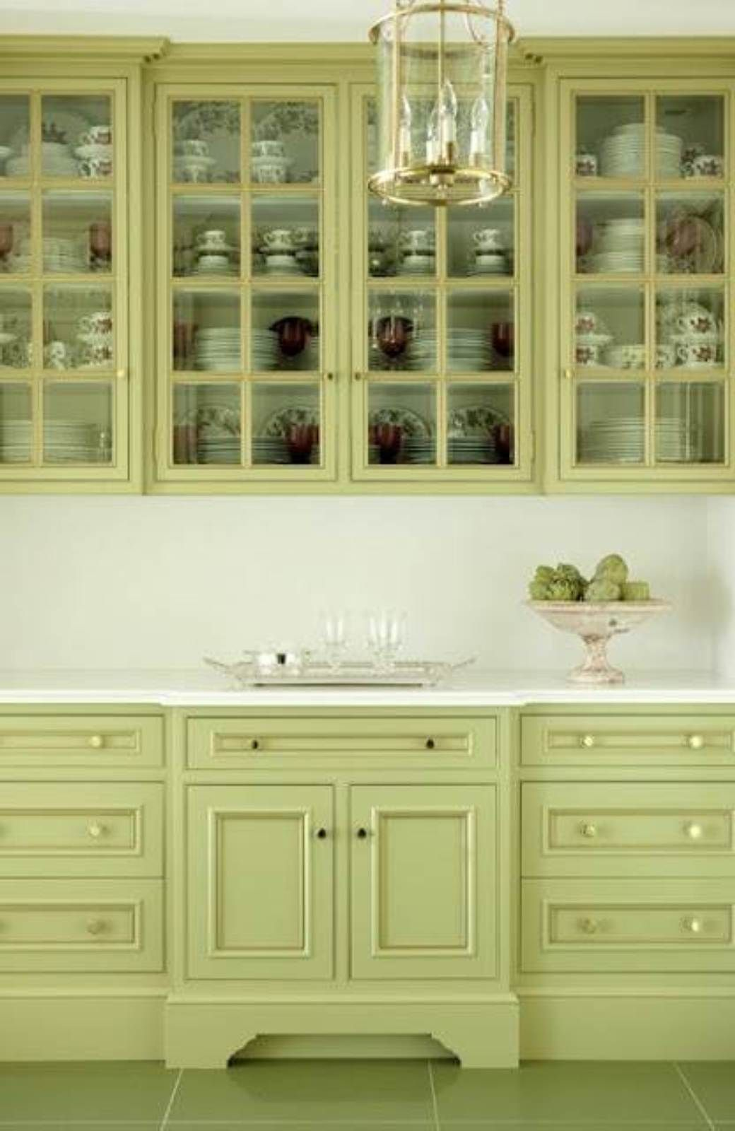 amusing green kitchen paint colors white cabinets | Green Kitchen Cabinet Paint Colors : Perfect Kitchen ...