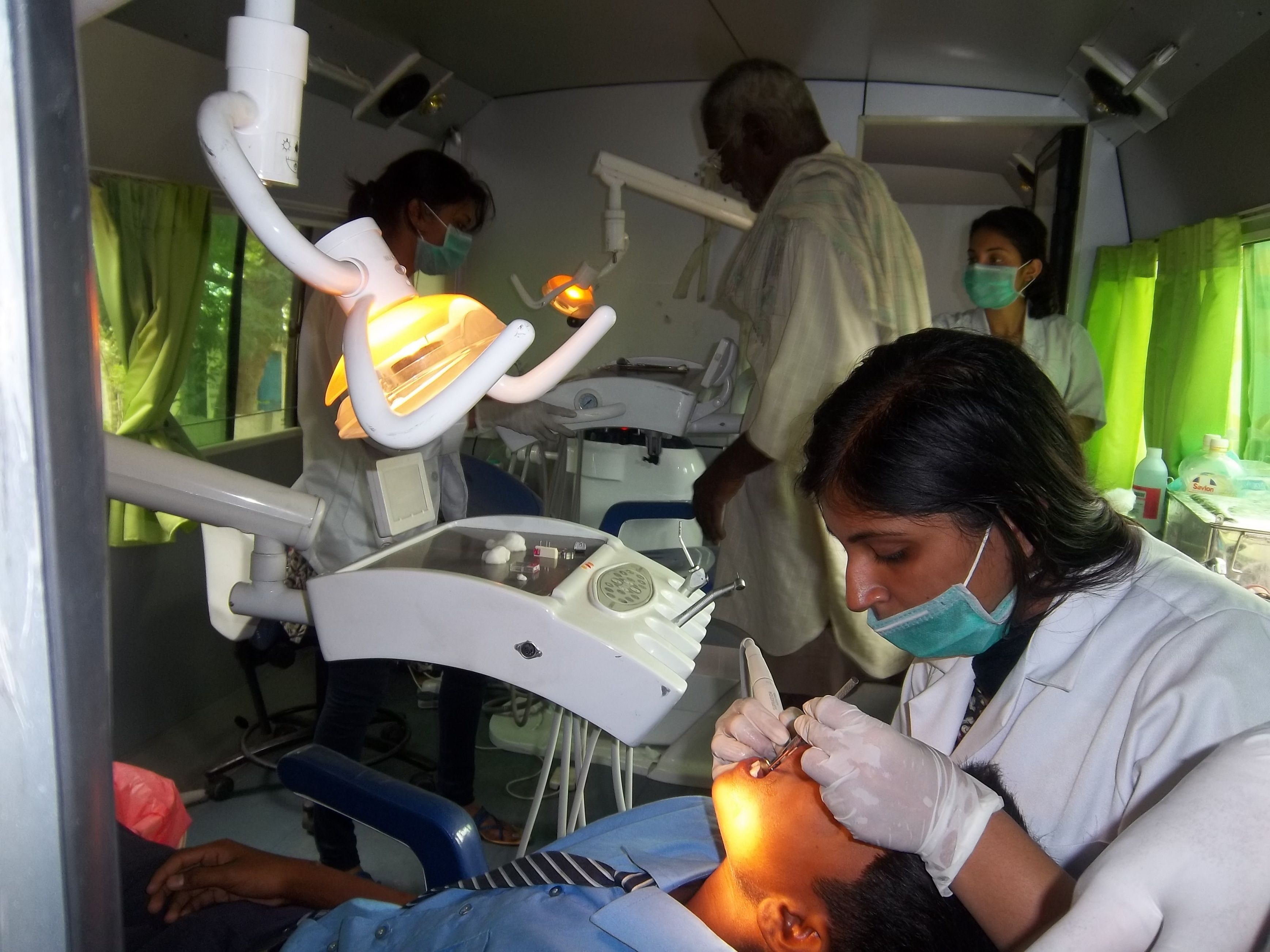 Dental treatments in mobile dental unit in bangalore www