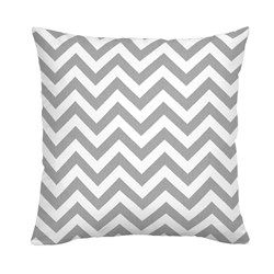 White and Gray Zig Zag Throw Pillow 250x250 image