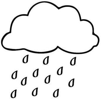 Okul öncesi Hava Durumu Boyama Sayfaları Hava Durumu Rain Drops
