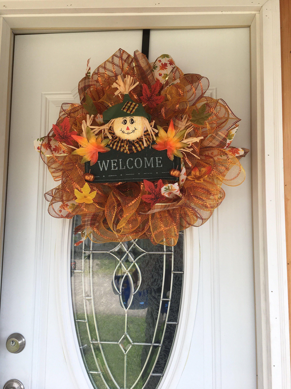 Handmade scarecrow wreath