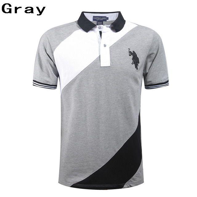 Ralph Lauren Men Sash Short Sleeve Big Pony Polo Shirt Gray On Sale
