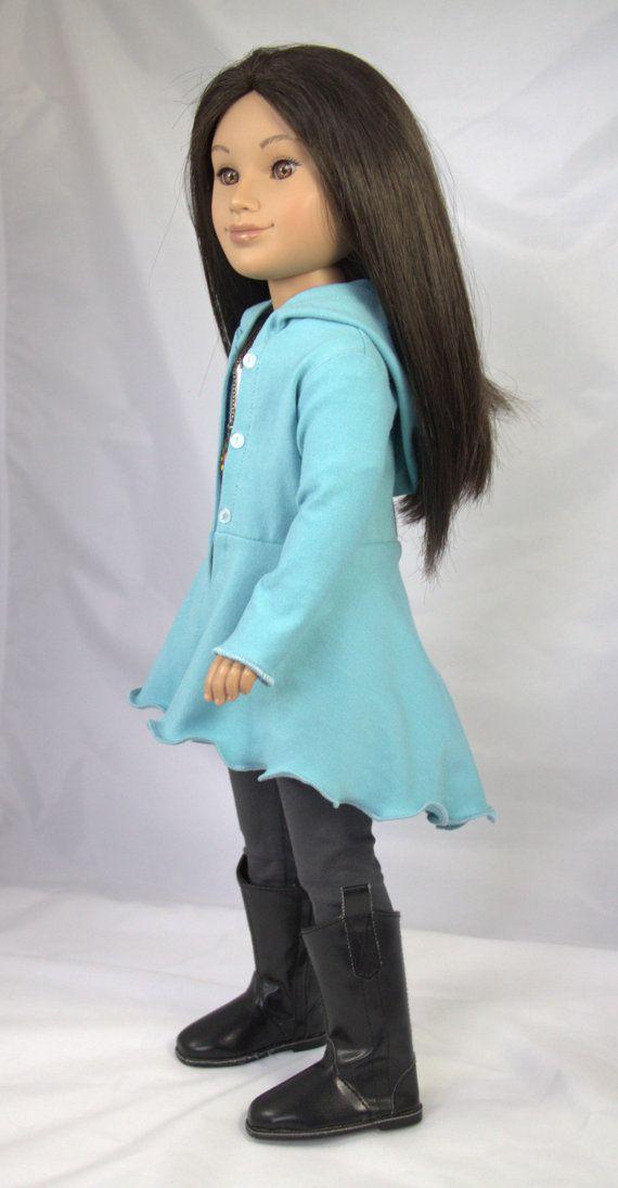 Karito Kid Doll Clothing PDF Pattern- Hyde Park Hoodie fits 20 inch ...