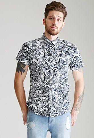 d1a8e24bc Wave Print Shirt
