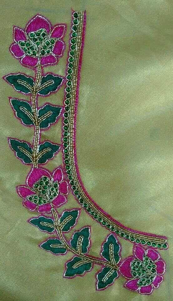 Pin de Almeena en Embroidery N Aari Work   Pinterest   Proyectos de ...