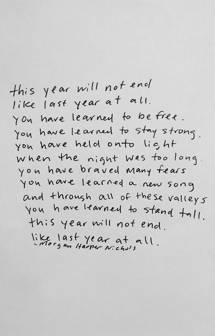 a quote for a year ending a new year